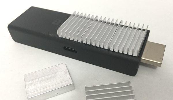 Fire TV Stick アルミ製ヒートシンクの取付 完成2